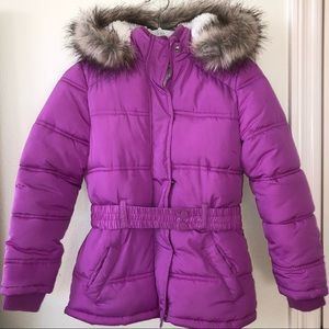 Purple Puffy Snow Jacket